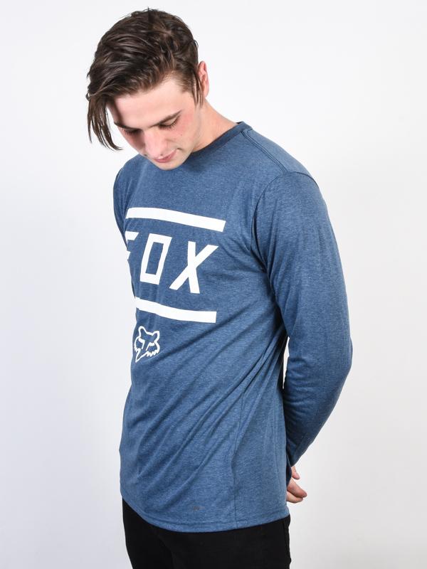 0bcdada356 Fox Listless HEATHER NAVY pánské tričko s dlouhým rukávem   eSatna.cz