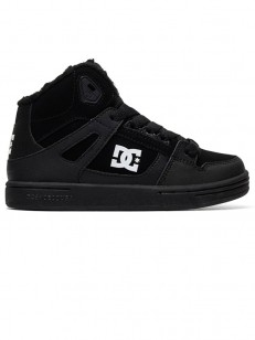 Dc PURE HIGH-TOP WNT BLACK BLACK WHITE dae9da1047